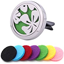 Scentfusey Best Essential Oil Car Diffuser. Add Your Own Essential Oils to Locket Vent Clip for Aromatherapy In Car Home Fan. Air Freshener With 7 Felt Pads, Gift Box & eBook