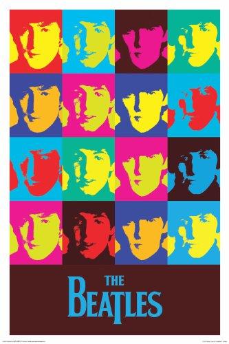 "Beatles - Warhol 24""x36"" Art Print Poster"