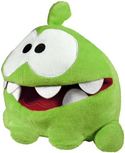 Amazon Com Cut The Rope 8 Hand Plush With Sound My Pal Om Nom Toys Games