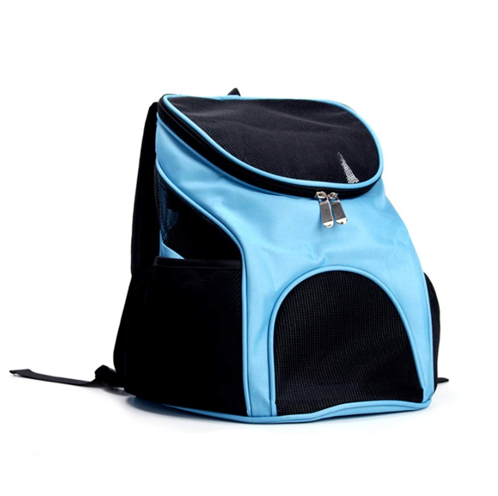 Pet Carrier Backpacks Puppy Travel Hiking Camping Outdoor Double Shoulder Foldable Bag Ventilated Design and Safety (3kg)