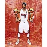 Dwyane Wade Miami Heat NBA Championship Trophies 8x10 Photo