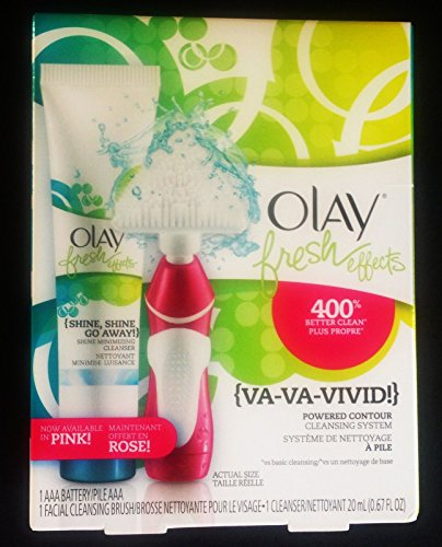 (Pack of 3),Olay Fresh Effects Va Va Vivid Powered Contour Cleansing System, (Pink/Rose)