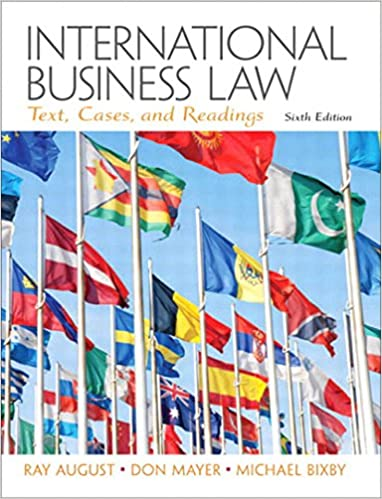 International business law 6th edition by august.