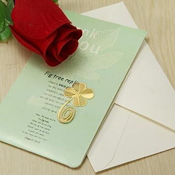 rose Caomoa Thin Metal Lesezeichen goldenes Lesezeichen