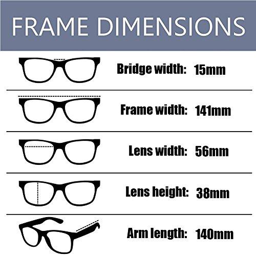 Eyewear Lente luz Vintage Hombre Moda Retro azul Negra Computadora Anti Arena los de Mujer ojos Filtro Claro Gafas Previniendo radiación Xinvision xCZwqBvSw