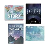 Explore Collection of Four 08x10 Inch Print Wall Art Prints, Typography, Nursery Decor, Kid's Wall Art Print, Kid's Room Decor, Gender Neutral, Motivational Word Art, Inspirational