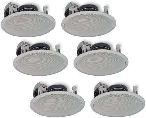 Yamaha Natural Sound Custom Easy-to-install In-Ceiling Flush Mount 2-Way 150 watts Speaker (Set of 6) with 8
