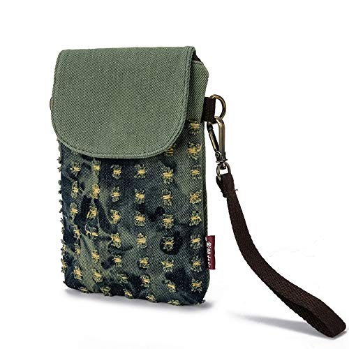 Nails Phones Cell - Cell Phone Purse Women Small Crossbody Bag Canvas Wristlet Wallet Change Pouch Mini Handbag for 5.5