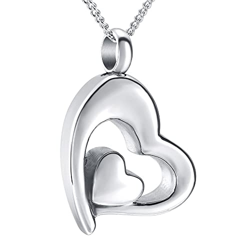 Amazon elegant heart pendant cremation urn necklace ashes elegant heart pendant cremation urn necklace ashes keepsake memorial jewelryfill kit blue aloadofball Image collections