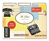 Cavallini File Folders Vintage Office, 12 Heavyweight File Folders per Set, Office Central