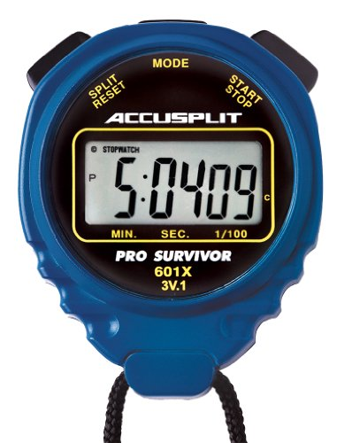 ACCUSPLIT Pro Survivor - A601X Stopwatch, Clock, Extra Large Display (Blue) (Stopwatch Handheld)