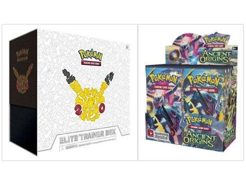 Generations Booster (Pokemon Ancient Origins Booster Box and 20th Anniversary Generations Elite Trainer Box Bundle, 1 of Each)