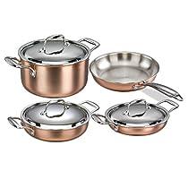 Korkmaz Divani Copper Cookware Bundle