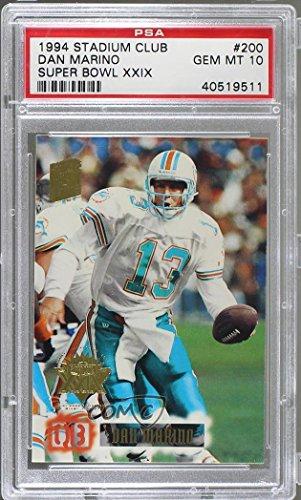- Dan Marino Graded PSA 10 GEM MT (Football Card) 1994 Topps Stadium Club - [Base] - Super Teams Winners Super Bowl XXIX #200