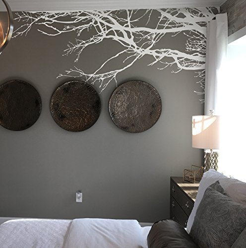 Large Tree Wall Decal Sticker - Semi-Gloss White Tree Branch