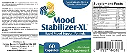 Mood Stabilizer-XL: Mood Support Supplement (5-HTP, Ashwagandha Extract, GABA, Chamomile Extract, Vitamin B-1, Vitamin B-2, Niacinamide, Vitamin B-6, Folic Acid, Vitamin B-12, Calcium, Magnesium, DMAE Bitartrate)