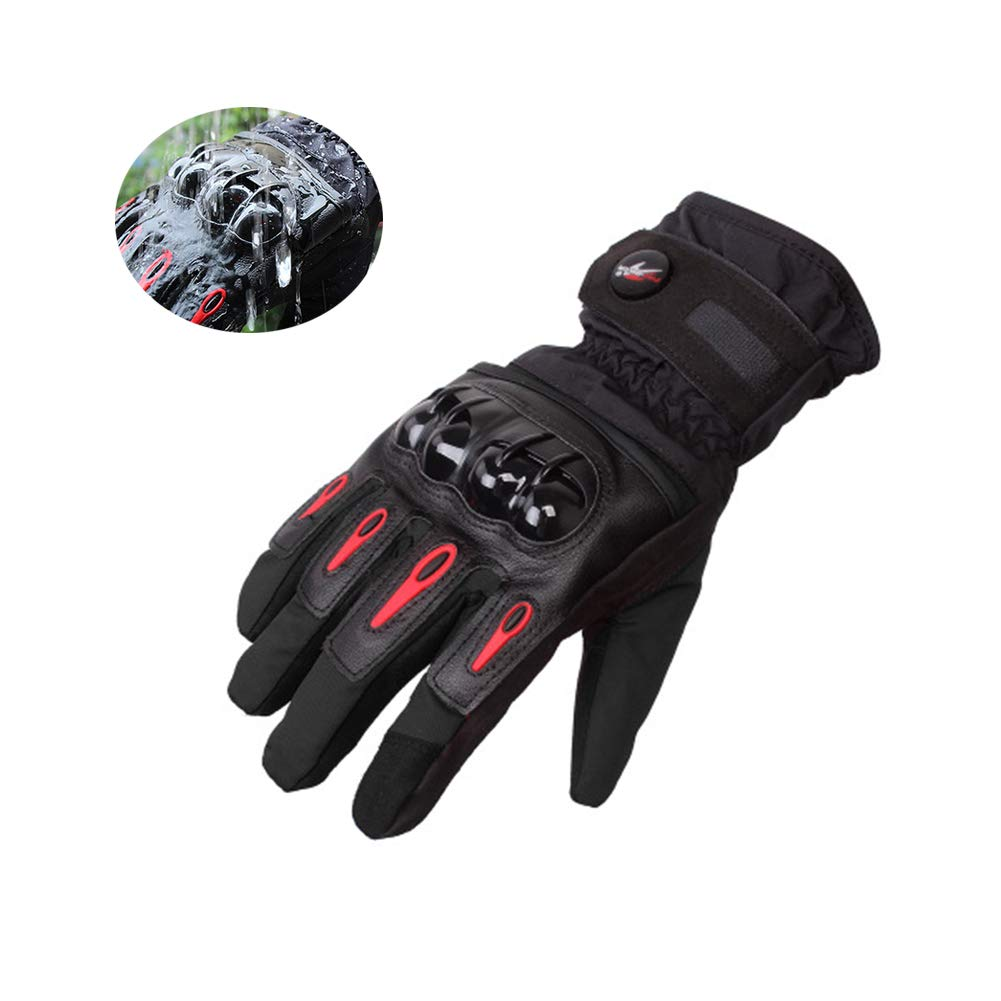 Winter Motorcycle Gloves Waterproof & Windproof, Touchscreen Gloves for Motorbike, Winter Hiking and Other Outdoor Sports - M/L / XL RunSnail MTV08