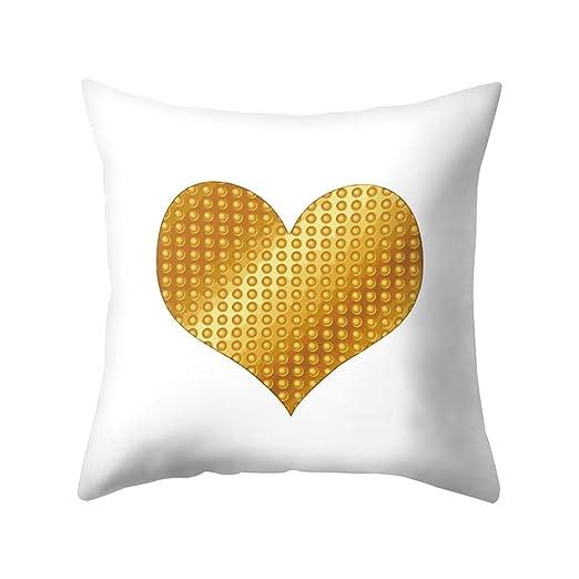 display08 - Funda de cojín con diseño geométrico de corazón ...