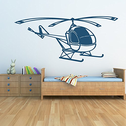 azutura Simple Helicopter Wall Sticker Aircraft Transport Wall Decal Boys Bedroom Decor available in 5 Sizes and 25 Colours Large Nut Brown ()