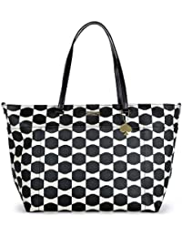 Kate Spade Bow Tile Francis Black Ostrich Baby Bag PXRU4801-079
