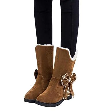 0f0a8e496a1a0 Memela Clearance Sale!! Women Snow Boots Women Winter Anti-Slip Ankle  Booties Waterproof Slip On Warm Lined Sneaker