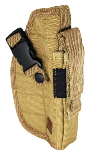 Deluxe Tactical Right Handed Belt Airsoft Gun Holster (Tan)