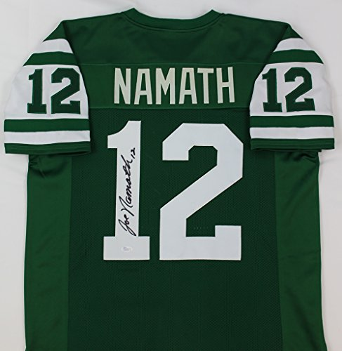 Joe Namath Autographed Green Jets Jersey - Hand Signed By Joe Namath and Certified Authentic by JSA - Includes Certificate of Authenticity ()