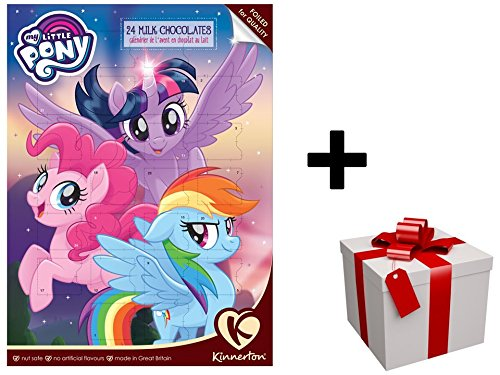 Nouveau Calendrier de l'avent 2017 'MY LITTLE PONY' au chocolat au lait PLUS CADEAU SURPRISE Kinnerton UK