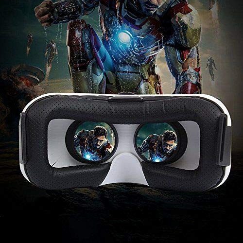 """White VR Glasses for 360 Degree Immersive Videos//Movies//Games in 4-5.7/"""" iPhone 5 6s Plus Samsung S6 Edge Note 5 LG G3 G4 Nexus 5 6P AOOK SONGMI Series 3D VR Virtual Reality Headset"""