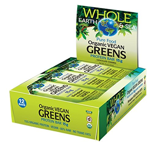 Organic Vegan Greens Protein Bar Chocolate Covered 12 Bars