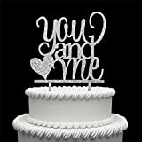 You And Me Acrylic Cake Topper For Love Wedding Anniversary Engagement Bridal Shower Party Sign Decoration Silver