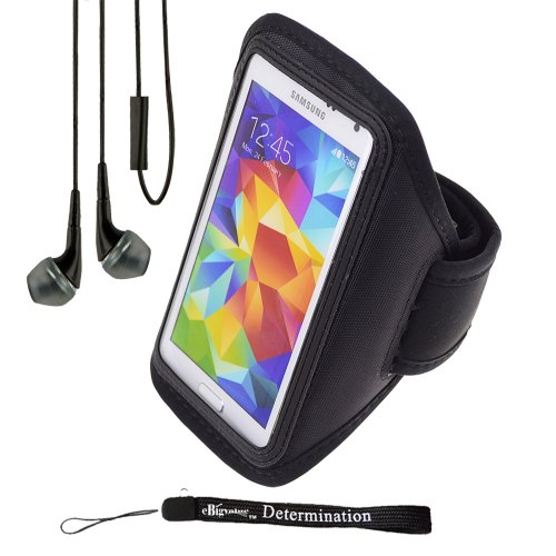 Sports Armband for Samsung Galaxy S5 and HTC One M7 (Orange) - 3