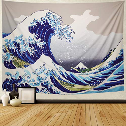 Galoker Tapestry Wall Tapestry The Great Wave Off Kanagawa Wall Hanging Tapestries Thirty-six Views of Mount Fuji Tapestry Ukiyo-e Print Japanese Art Tapestry for Living Room Bedroom Dorm Decor (Thirty Six Views Of Mount Fuji Prints)