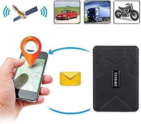 Hangang Rastreador GPS Magnético, 120 días Gps Tracker en Espera Localizador GPS Dispositivo de Seguimiento en Tiempo Real, para Coche, moto, bicicleta con La Aplicación Gratuita Apoyo Andriod y IOS: Amazon.es: Coche