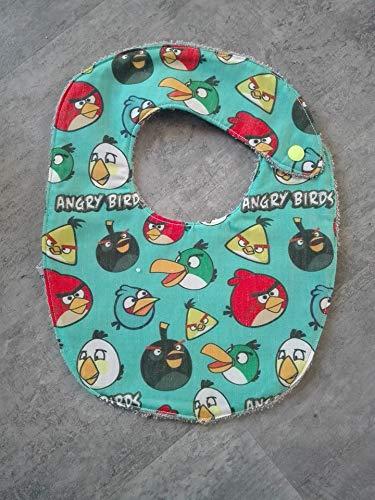 Idee Cadeau Naissance.Bavoir Bebe Taille 0 A 1 An Theme Angry Bird Idee Cadeau
