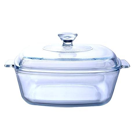 Amazon.com: Sopa para el hogar con tapa, cuenco de cristal ...