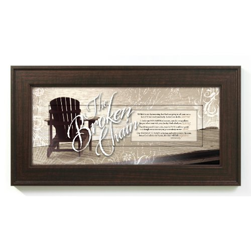 The Broken Chain Bereavement In Memory 8 x 16 Wood Wall Art Frame (Bereavement Plaque)