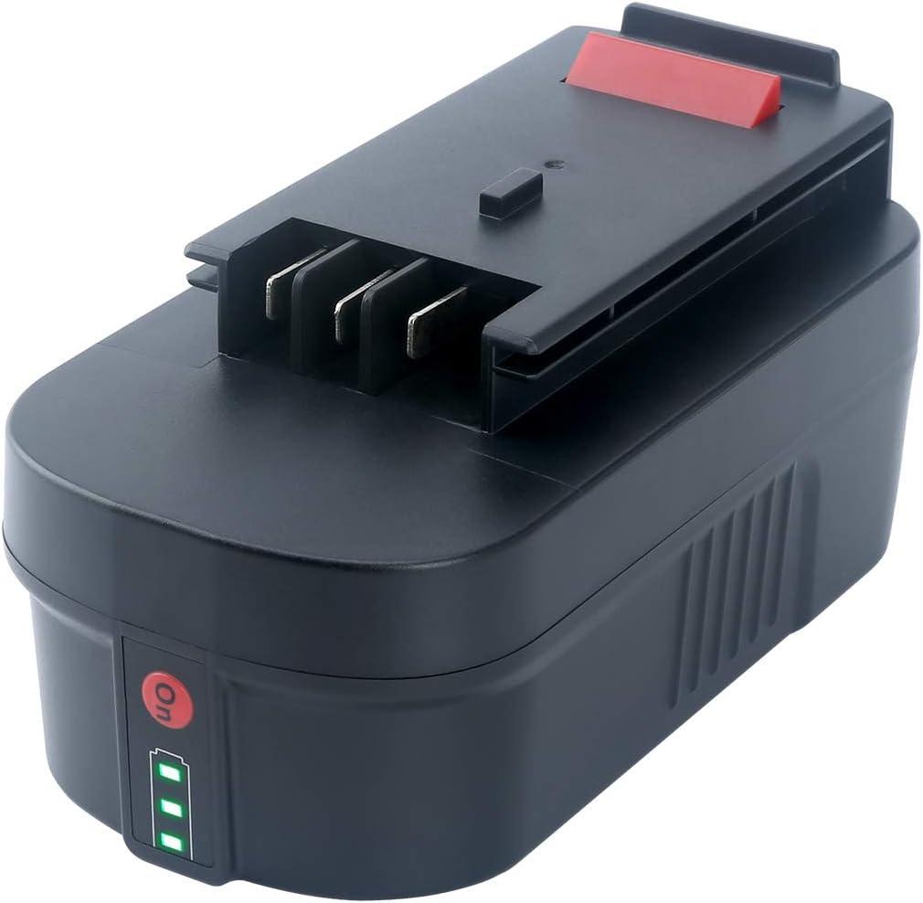 Swidan 5000mAh 18Volt Lithium-Ion Battery for Black&Decker A1718 HPB18 HPB18-OPE 244760-00 FS18FL FSB18 Firestorm Power Tools