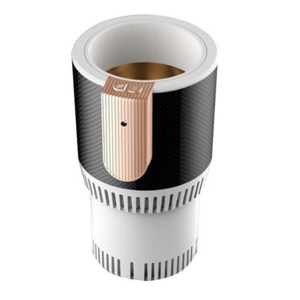 Car hot and cold cup portable mini multi-function electronic refrigeration cup heating cup-white