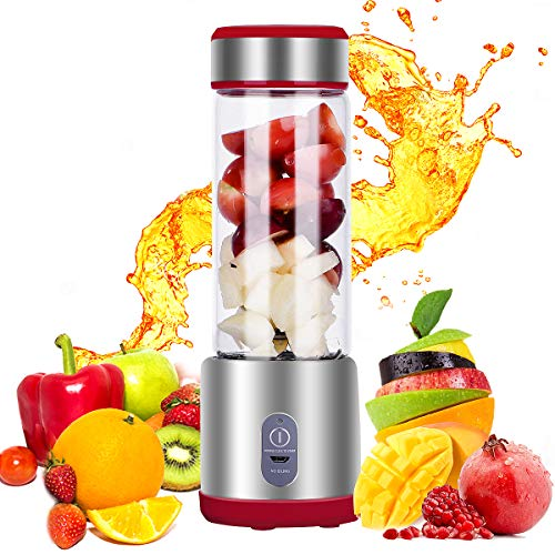 Portable Blender, VTONA Mini Personal Smoothie Maker with 450ML Blending Cup for Fruit Vegetable Milk Shake Baby Food, USB Chargeable for Outdoor Home Office