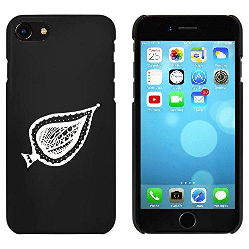 Noir 'Feuille à Motifs' étui / housse pour iPhone 7 (MC00056439)