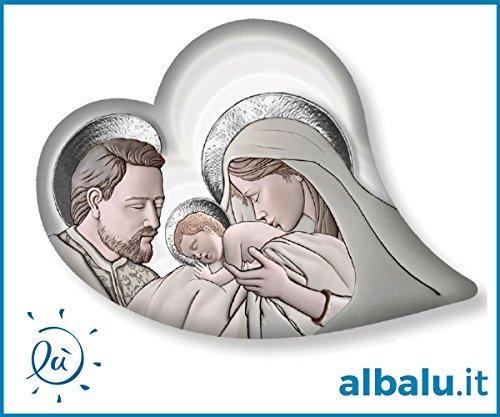 Bomboniere Religiose Matrimonio.Albalu Italia Bomboniera Icona Sacra Famiglia Quadretto Legno