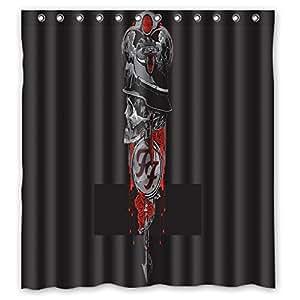 "66 ""x72"" Foo Fighter Shower Curtain Waterproof Fabric Shower Curtain"