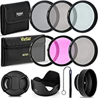Professional 58MM UV CPL FLD Filters, VIVITAR Neutral Density Set, 10 Piece Compact Photography Accessories For Canon