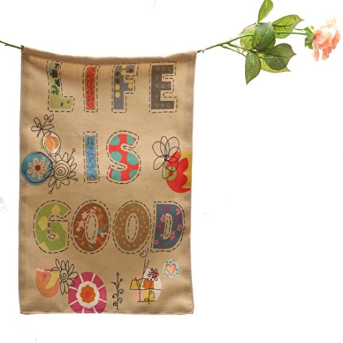 Auwer Life Is Good Garden Flag Indoor Outdoor Home Decor Car Flag Burlap Monogram Fabulous Decorative Colorful Multicolor Garden Flag 12.6 x 18 Inches (H)