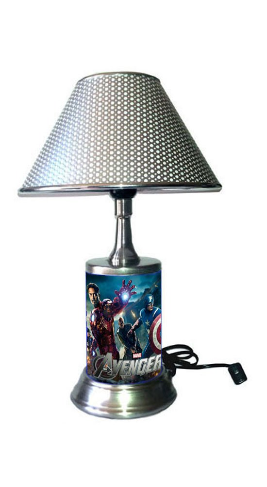 Marvel s The Avengers Lamp with Chrome Colored Shade