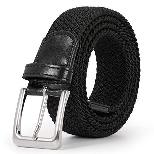 Braided Elastic Belt for Men/Women/Junior Woven Canvas Stretch Belts by JASGOOD