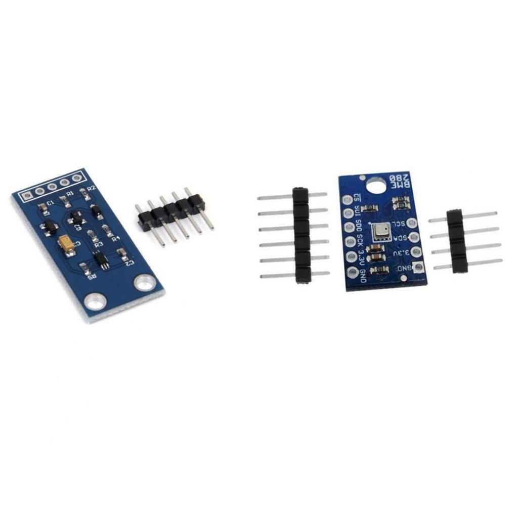 Baoblaze Pack of 1pcs BME280 Temperature Humidity Barometric Pressure and 1pcs Light Intensity Sensor Set
