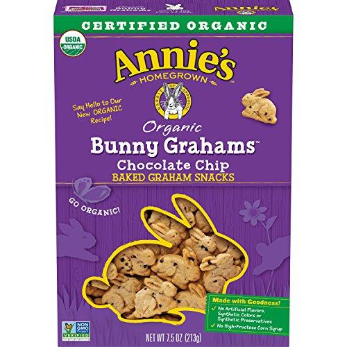 Annie's Chocolate Chip Bunny Grahams Whole Grain Snacks, 7.5 Ounce (Pack of 12)