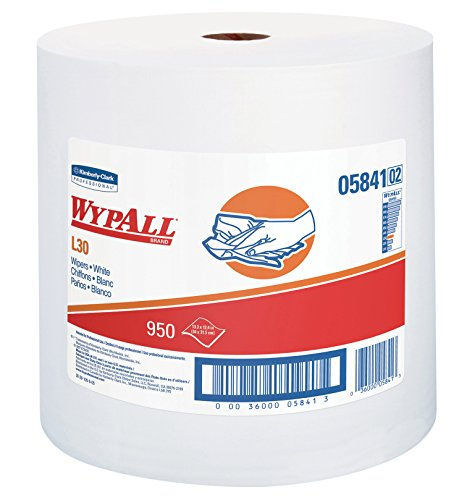 WypAll 05841 L30 Wipers, 12 2/5 x 13 3/10, White, 1 Roll